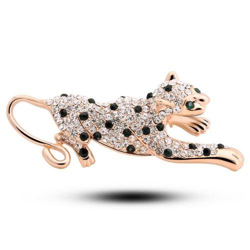 Cute leopard brooch