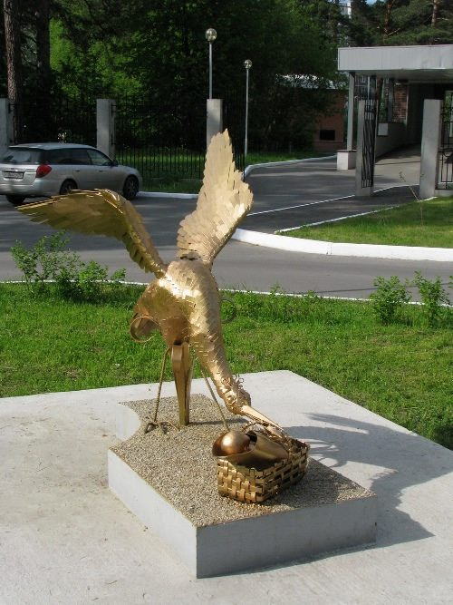 Cute monument to stork