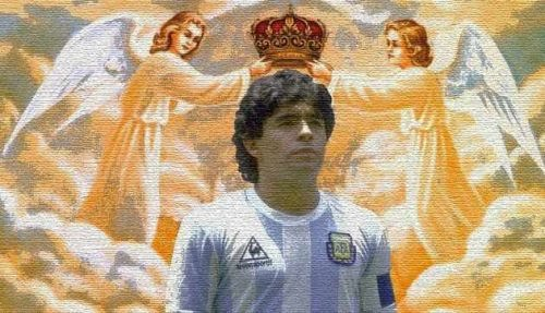 Famous former football player Diego Maradona has his own religion, devised by his fans