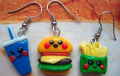 Fast food earrings