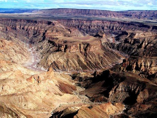 Fish River Canyon in the south