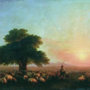 Flock of sheep. Aivazovsky