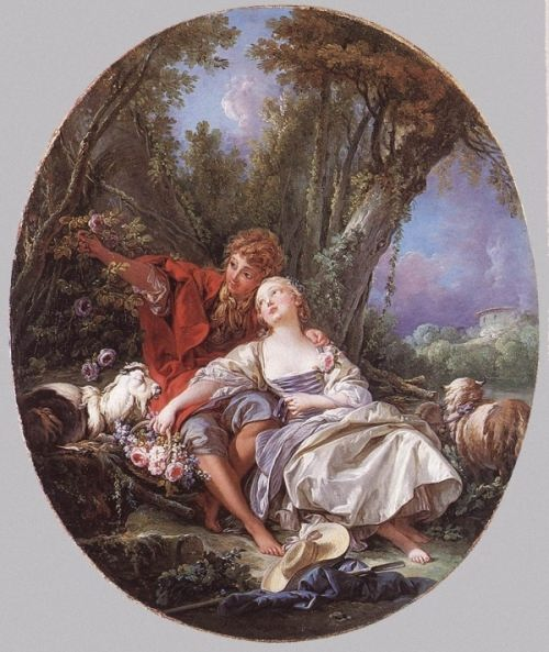Francois Boucher. Shepherd and Shepherdess reposing, 1761