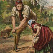 Frederick Leighton. Planting Potatoes.