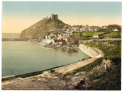 From the parade, Criccieth Castle, Wales