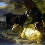 Giovanni Agostino Cassana. Sheep and goat