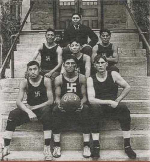 Indian basketball team. 1909