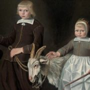 Jacob Gerritszoon Cuyp. Double portrait of children with a goat