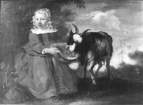 Jacob Gerritszoon Cuyp. Portret van een kind met een bok