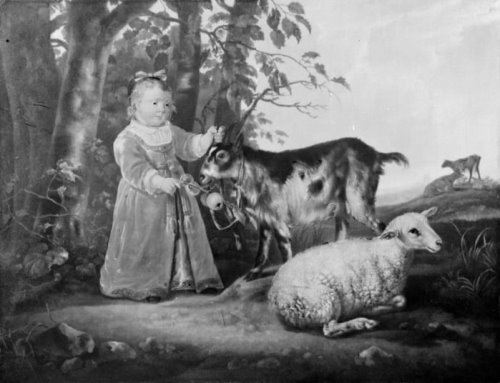 Jacob Gerritszoon Cuyp. The Little Girl with the Goat, 1645