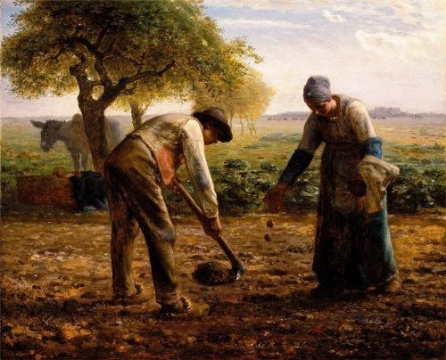 Jean Francois. Millet Piantatori di Patate. 1861