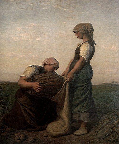 Jules Breton. The Potato Harvest.