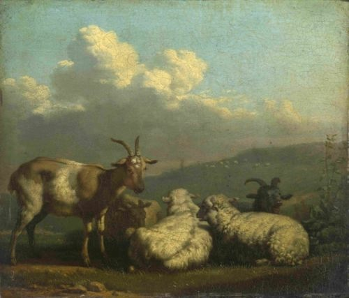 Karel Dujardin. Sheep and Goats