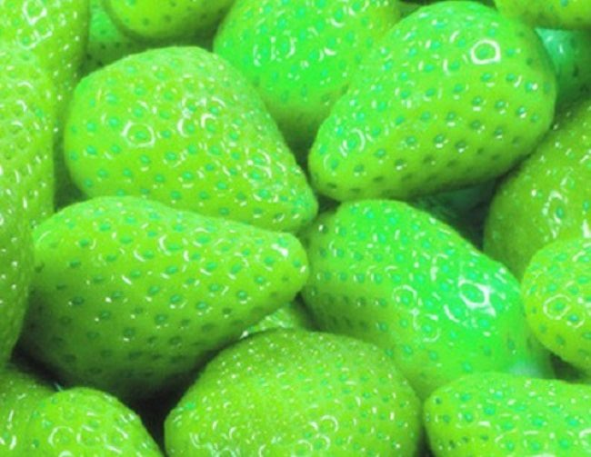 Light green strawberry