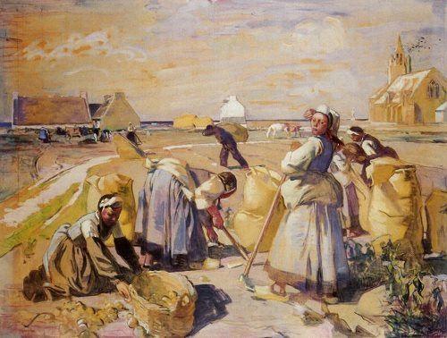 Lucien Simon. La recolte des pommes de terre. 1923