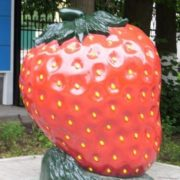 Monument to a strawberry in Moscow Region, Russia