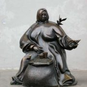 Monument to grandmother in Minsk, Belarus