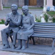Monument to grandparents in Magnitogorsk, Russia