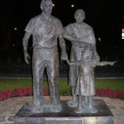 Monument to grandparents in Torremolinos, Spain