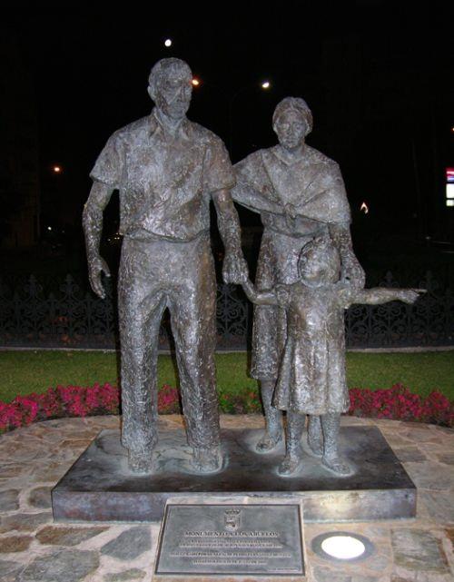 Monument to grandparents in Torremolinos, Spain