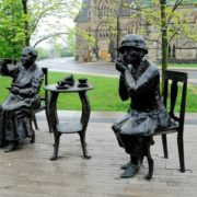 Monument to old feminists in Ottawa, Canada