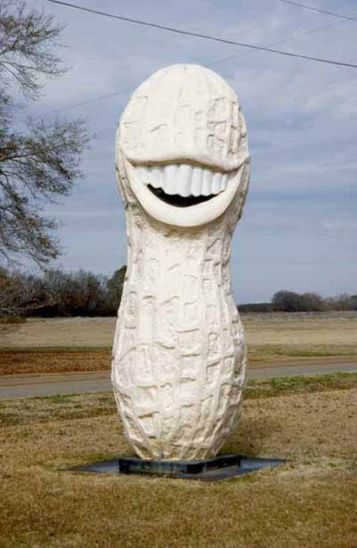 Monument to peanut in Plains, Georgia, USA