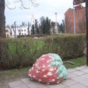 Monument to strawberries in Viljandi, Estonia