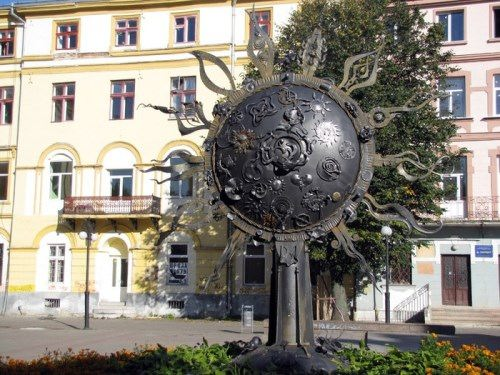 Monument to the Sun in Ivano-Frankivsk, Ukraine