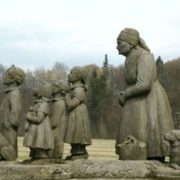 Monument to the characters of Bozhena Nemtsova's novel, Czech Republic