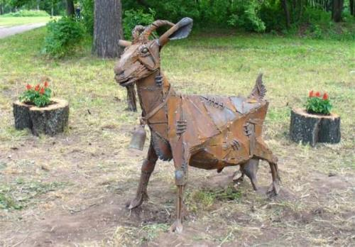 Monument to the goat in Izhevsk