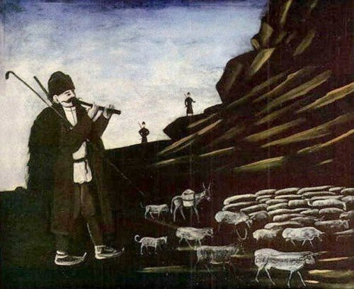 Niko Pirosmani. Shepherd with sheep