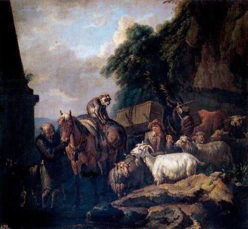 Pieter van Bloemen. Caravan