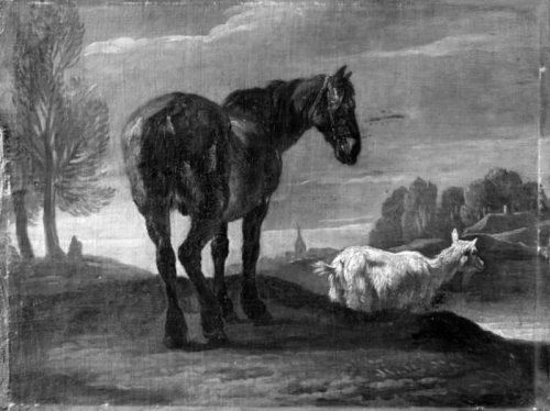 Pieter van Bloemen. Landscape with Horse and a Goat