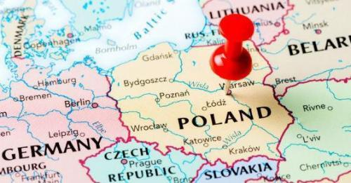 Poland on the map