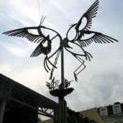 Pretty monument to stork