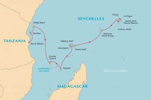 Seychelles on the map