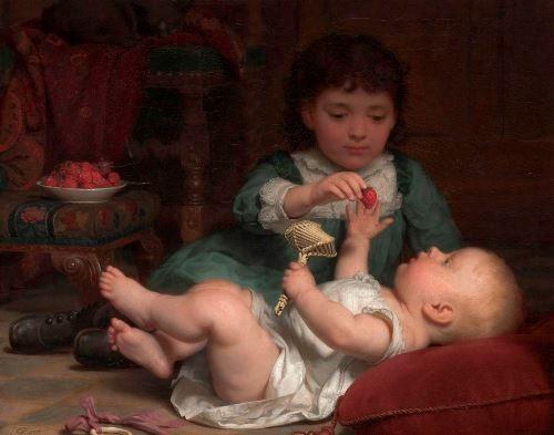 Seymour Joseph Guy. Temptation, 1884