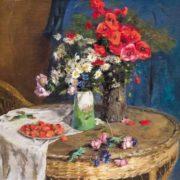 Shelyuto Nikolai Andreevich. Still Life with Strawberries, 1952