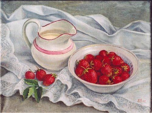 Shumakova Elena Valeryevna. Strawberries with cream