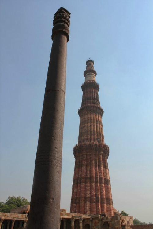 Stainless steel column Qutb Minar in Delhi