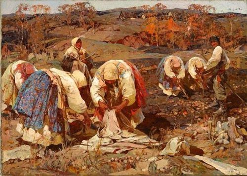 Stepan Kolesnikov. Picking potatoes