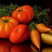 Still Life with Tomatoes and Carrots