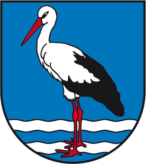 Stork on the coat of arms