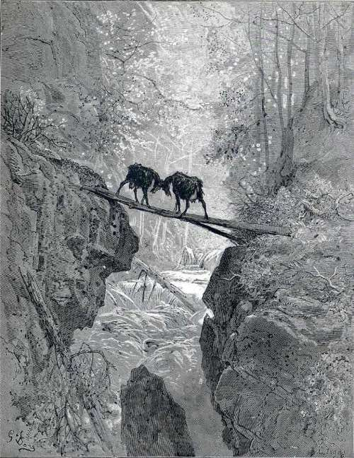 The Two Goats - Gustave Dore, 1868