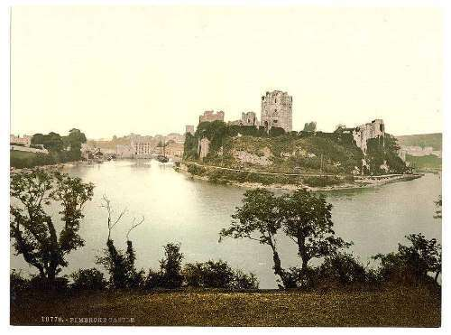 The castle, Pembroke, Wales