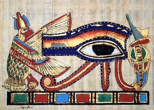 The heavenly eye of the god Horus