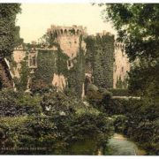The moat, Raglan Castle, Wales