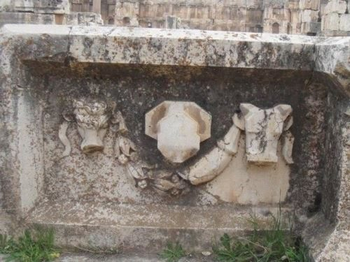Unfinished bas-reliefs