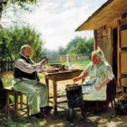 V.E. Makovsky. Cooking jam