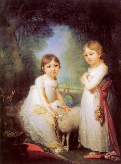 V.L. Borovikovsky. Children with a lamb